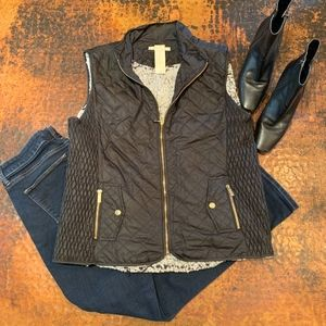 NWT Francesca's Quilted Wubby Lined Puffer Vest